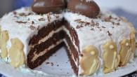 Tort de ciocolata cu dulceata de cirese de Florii