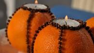 Lumanari din portocale-decoratiuni de Craciun