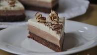 Tort fara coacere cu crema de cafea si mousse de ciocolata alba