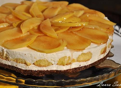 Cheesecake cu gutui, fara coacere