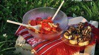 Salata de legume rustica cu rulouri de vinete