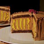 Tort-spirala de ciocolata cu crema ganache