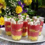 Trifle individuale cu zmeura si mascarpone